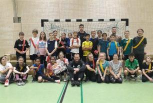 Handballtraining mit den Recken